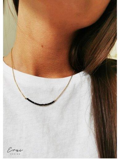 ErniDesign kaklo papuošalas | BLACK BREEZE - GOLD