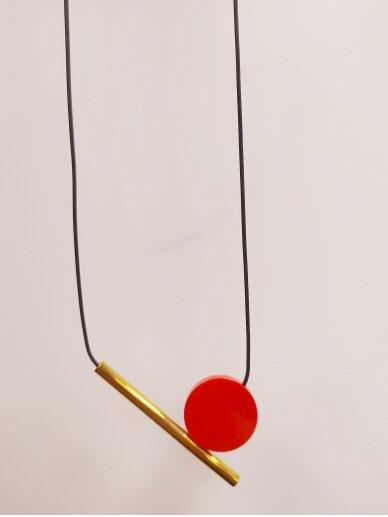 Kaklo papuošalas | Raudonas