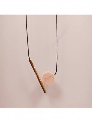 Kaklo papuošalas | Rožinis