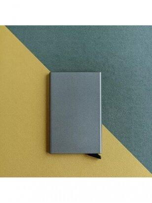 Kortelių dėklas | Pure Metal - Gray