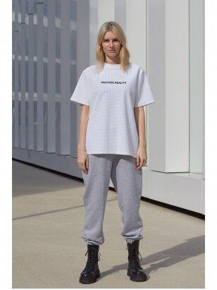 Moteriškos pilkos laisvalaikio kelnės
