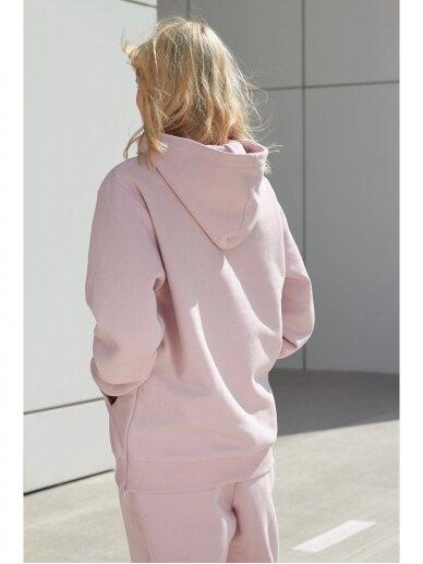 Moteriškas rožinis džemperis su gobtuvu 7