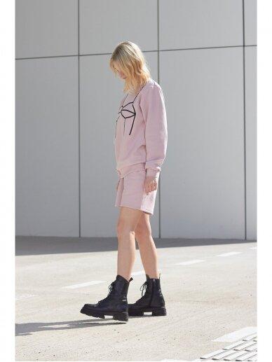 Moteriškas rožinis laisvalaikio džemperis 3