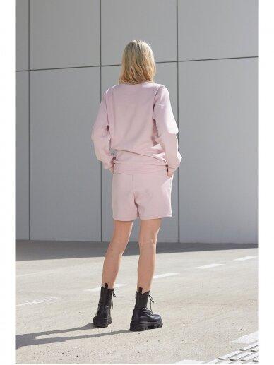 Moteriškas rožinis laisvalaikio džemperis 4