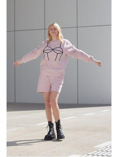 Moteriškas rožinis laisvalaikio džemperis 5