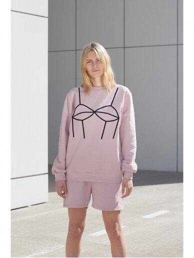 Moteriškas rožinis laisvalaikio džemperis 6