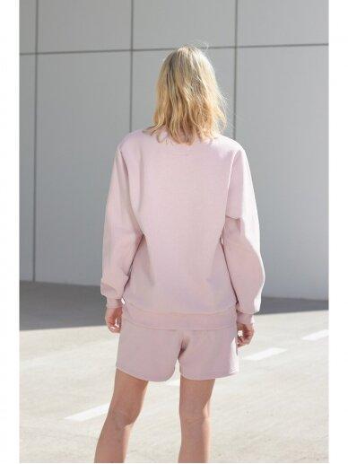 Moteriškas rožinis laisvalaikio džemperis 7