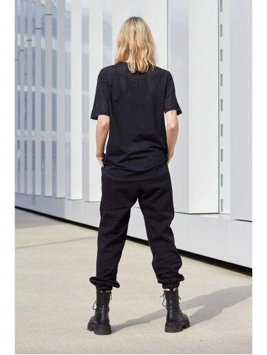 Moteriškos juodos laisvalaikio kelnės 4