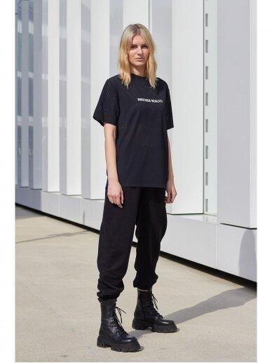 Moteriškos juodos laisvalaikio kelnės