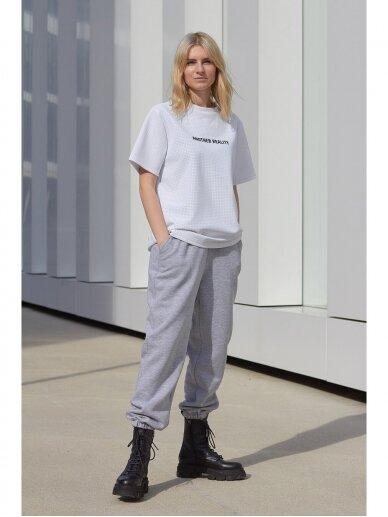 Moteriškos pilkos laisvalaikio kelnės 2