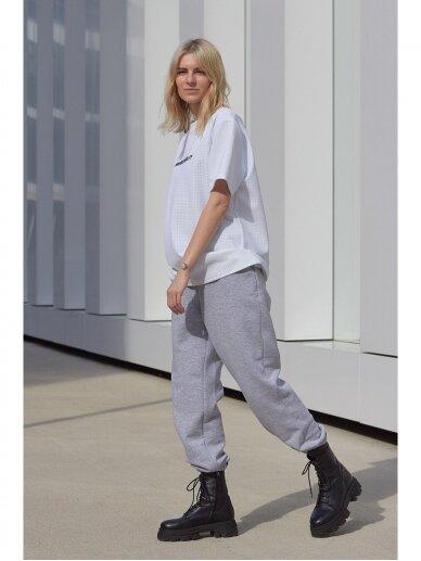 Moteriškos pilkos laisvalaikio kelnės 3