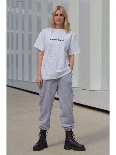 Moteriškos pilkos laisvalaikio kelnės 5