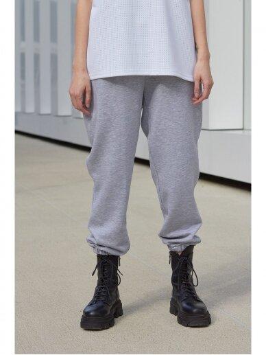 Moteriškos pilkos laisvalaikio kelnės 6