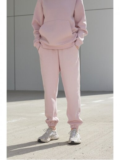 Moteriškos rožinės laisvalaikio kelnės 4
