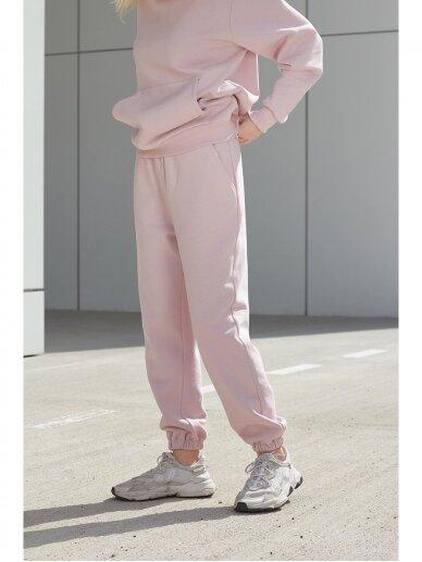 Moteriškos rožinės laisvalaikio kelnės 5