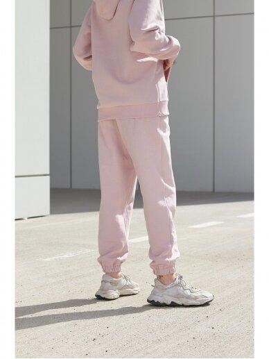 Moteriškos rožinės laisvalaikio kelnės 6
