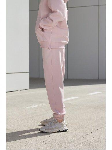 Moteriškos rožinės laisvalaikio kelnės 7